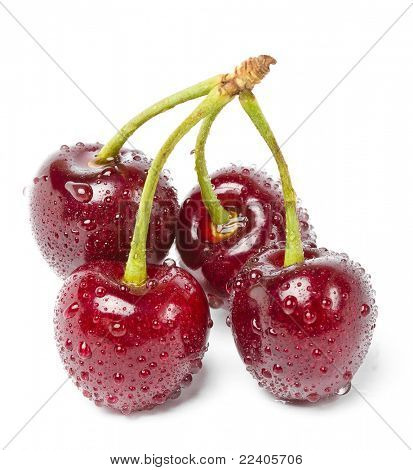 Sweet cherry on a white background, it is isolated