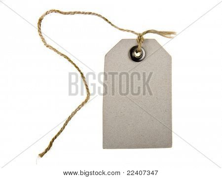 paper tag with rope
