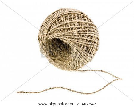 Punho do linho fio isolado no fundo branco