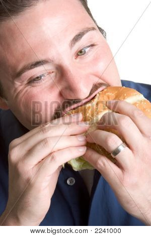 Biting Into Burger