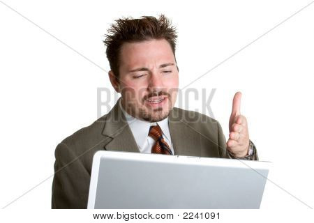Frustrated Laptop Man