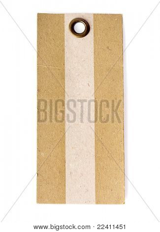 paper tag  isolated on white