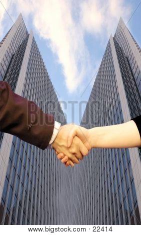 Hand-Shake - Gebäude