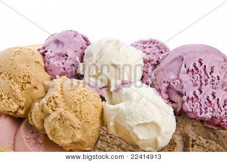 helado, aislado sobre fondo blanco