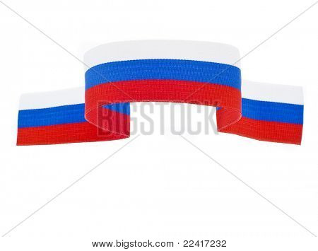 banner from the tissues of the Russian flag