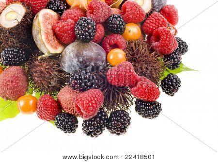 multifruit  isolated on white background