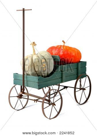 Wagen And Pumpkins