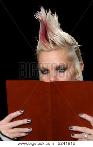 Punk Girl Reading Bible