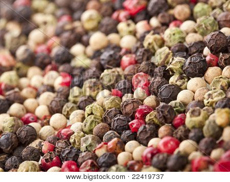 mixed pepper background