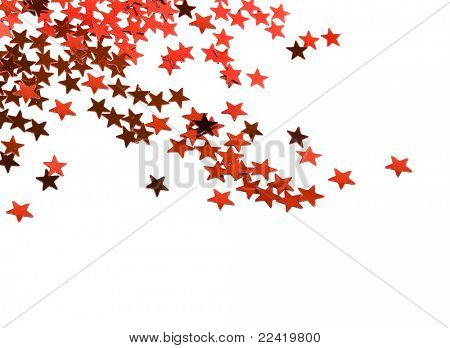 Christmas Star with copy space for your text on a white background