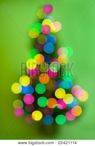 christmas tree with defocused lights
