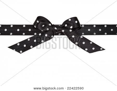 Schwarzes Farbband Bow isolated over white background