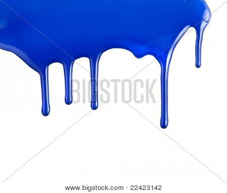 colorful paint dripping isolated on white background
