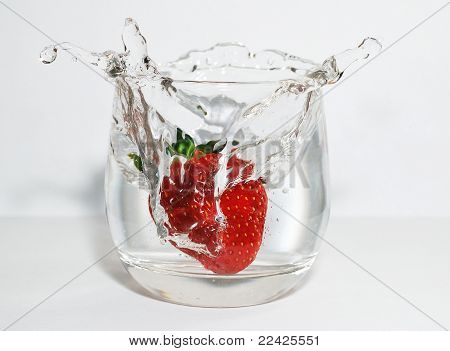 Strawberry And Water