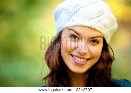 Fashion Girl Portrait Outdoors