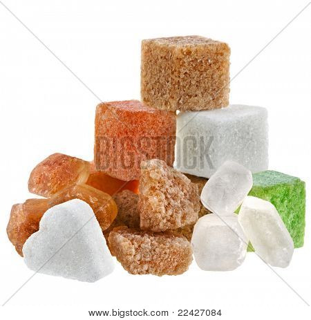 different types of sugar isolated