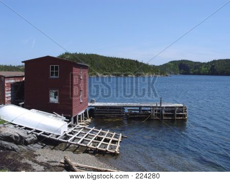 Stage And Warf In Newfoundland