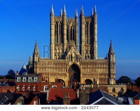 Lincoln Cathedral taken from the
