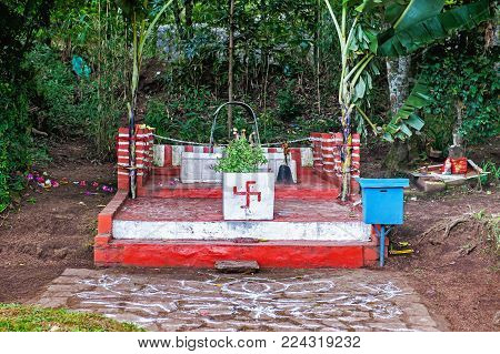 Small temple in