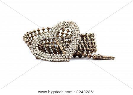 Bracelets on a white background