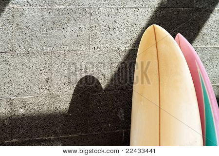 Surfboard On The Wall