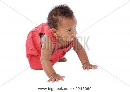 Adorable Baby Crawling