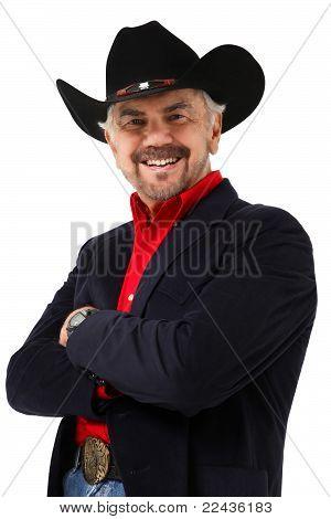 Elderly Modern Day Cowboy