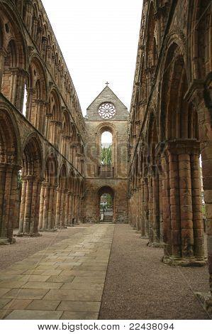 Interior Of Jedburgh Abbey
