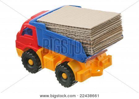 Cardboard in the truck
