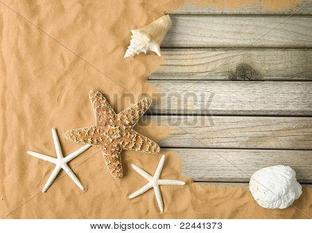 Holz und Sand-Hintergrund