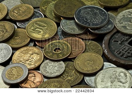 Old coins of several countries