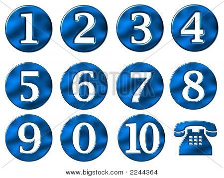Numbers Illustration Set