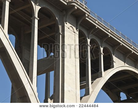 Pasadena's historic Colorado Blvd Bridge in southern California.