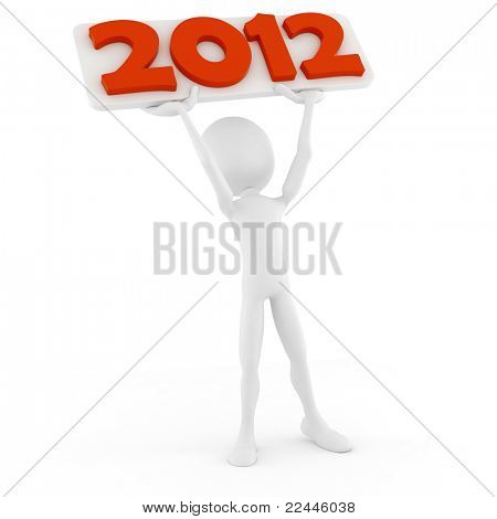 3d man announcing the new 2012