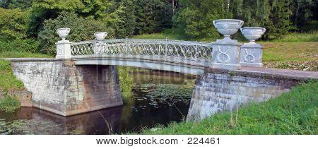 Stone Bridge Across Small River