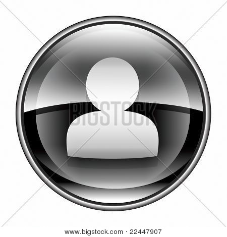 User Icon Black, Isolated On White Background