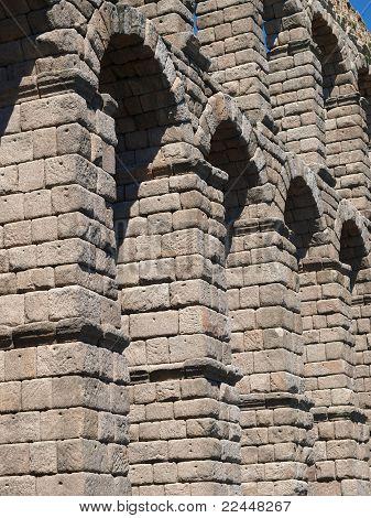 Detalle de acueducto en Segovia