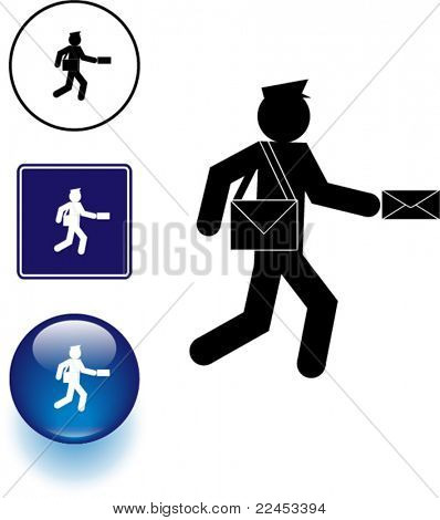 mailman symbol sign and button