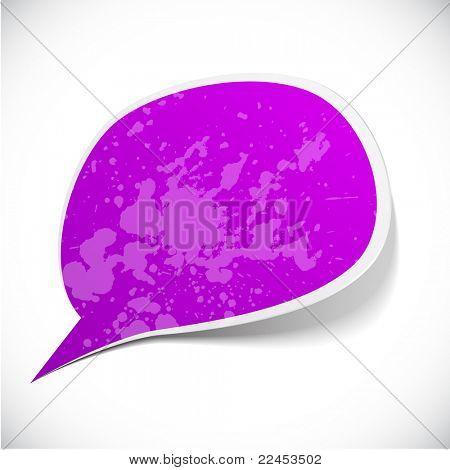 Vector illustration of Purple paper splash speech.