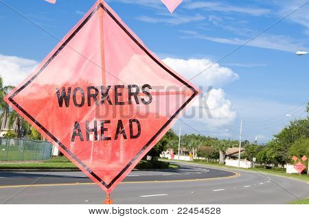 Workers Ahead