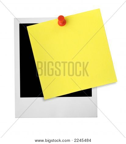 Photo Frame And Yellow Note