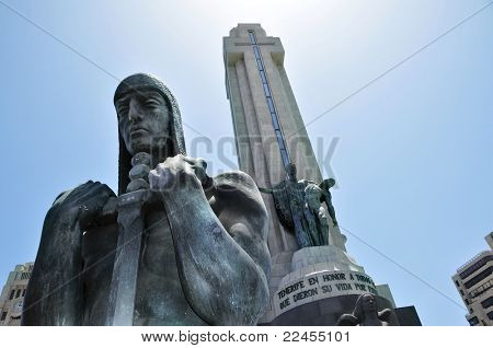 SANTA CRUZ, SPAIN - JUNE 23: Monumento a los Caidos on June 23, 2011 in Santa Cruz, Spain. It's a tribute to the fallen in the Civil War (1936-1939) the onset of which is the 75th anniversary in 2011