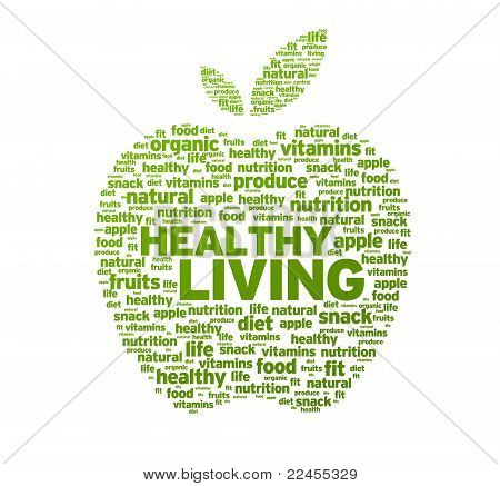 Ilustración de Apple de una vida sana