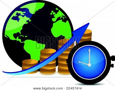 Financial success concept time is money