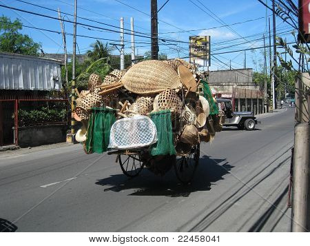 Handicrafts on way to Market - Philippines