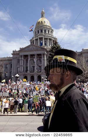 'Honest Abe' at Tea Party Rally