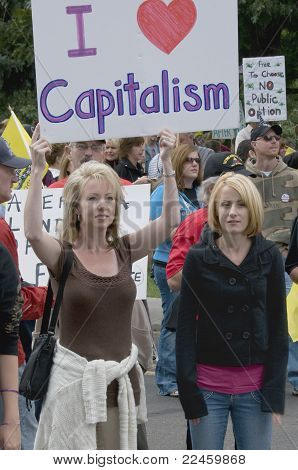 Tea Party Patriots Love Capitalism, Denver