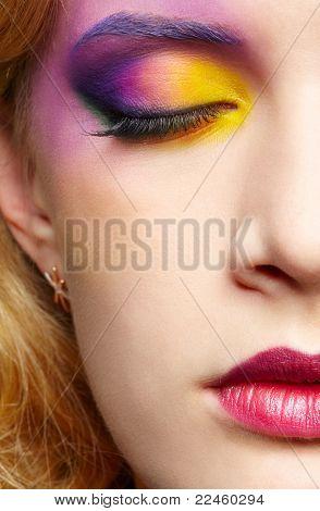 Closeup de mulher bonita