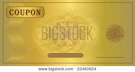 raster Coupon gold template