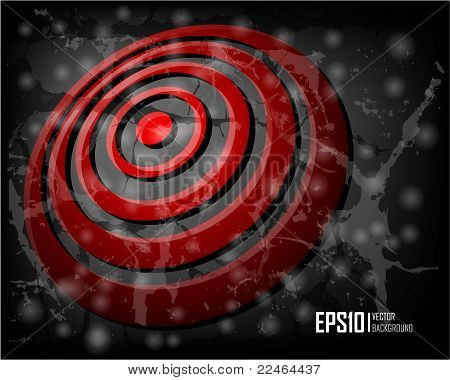 Red abstract glowing background